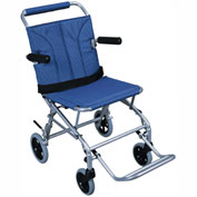 Super Light Folding Transport Chair with Carry Bag and Flip-Back Arms