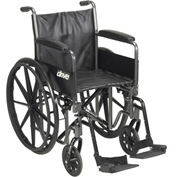 "Silver Sport 2 Wheelchair, Detachable Full Arms, Swing Away Footrests, 16"" Seat"