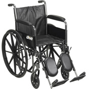 """Silver Sport 2 Wheelchair, Detachable Full Arms, Elevating Leg Rests, 20"""" Seat"""