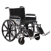 "22"" Sentra Extra Heavy Duty Wheelchair, Detachable Full Arm, Swing-away Footrests"