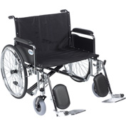 """28"""" Sentra EC Heavy Duty Extra Wide Wheelchair, Detachable Full Arms, Elevating Leg Rests"""