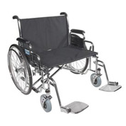 "28"" Bariatric Sentra EC Heavy Duty Extra Extra Wide Wheelchair, Detachable Full Arm"