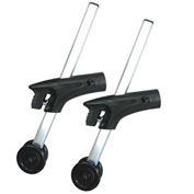 Anti-Tippers with Wheels, Chrome, For Use with Cougar Wheelchairs, 1 Pair