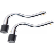 Anti-Tippers without Wheels, Chrome, For Sentra Reclining, Silver Sport 1 & 2 Wheelchairs, 1 Pair