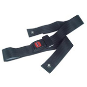 "Black Wheelchair Seat Belt, Auto-Clasp Closure, For Waist Sizes Up to 48"", 1 Each"