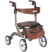 Drive Medical Nitro DLX Euro Style Walker Rollator RTL10266CH-HS, Champagne