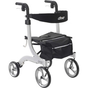 Drive Medical Nitro Euro Style Walker Rollator RTL10266WT, White