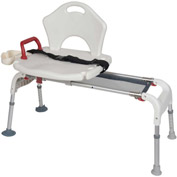 Drive Medical Transfer Bench RTL12075, Folding, Universal, Sliding, White