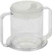 Drive Medical 2 Handle Cup RTL3515, Plastic, 10 Oz, Clear