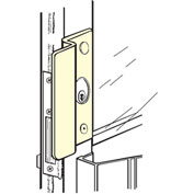 """Don Jo OLP2650-SL Latch Protector For Use W/Center Hung Outswing AL DR, 1-1/8""""Offset, SC - Pkg Qty 10"""