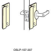 """Don Jo OSLP 207-SL Short Type Latch Protector For Outswing Doors, 2-5/8""""x7"""", Silver Coated - Pkg Qty 10"""