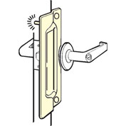 "Don Jo PLP 211 EBF-BP Pin Latch Protector For Outswing Doors, 3""x11"", Fasteners, Steel, Brass Plated - Pkg Qty 10"