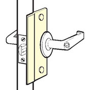 Don Jo SLP 206-BP Short Type Latch Protector For Outswing Doors, Brass Plated - Pkg Qty 10