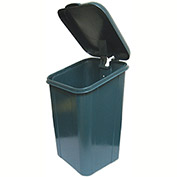 DOGIPOT® Polyethylene Trash Receptacle with Polyethylene Lid, Liner Trash Bags