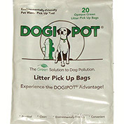 DOGIPOT® Litter Pick Up Bags, 20 Bag Sample Pak, 100/Case