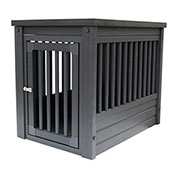 DOGIPOT® Two-In-One Table Dog Crate, Medium, Espresso