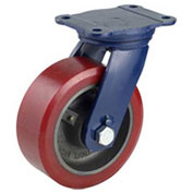 "Darnell-Rose R-110 Series Swivel Plate Caster SC-0110-007PS - Polyurethane 8""Dia. 2500 Cap. Lb."