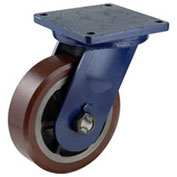 "Darnell-Rose R-120 Series Swivel Plate Caster SC-0120-010PS - Polyurethane 10""Dia. 3000 Cap. Lb."
