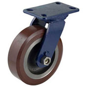 "Darnell-Rose R-600 Series Swivel Plate Caster SC-0663-FS - Forged Steel 5-3/4""Dia. 3000 Cap. Lb."