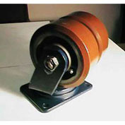 "Darnell-Rose Dual Wheel Swivel Plate Caster TSC-0130-012PS - Polyurethane 12""Dia. 9600 Cap. Lb."