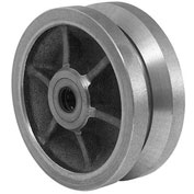 "Darnell-Rose Caster Wheel WO-0669-VS - Semi-Steel V-Grooved 6""Dia. 3000 Cap. Lb."