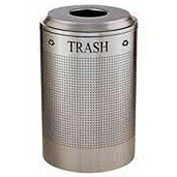 Rubbermaid® Silhouette DRR24T Recycling Receptacle w/Trash Opening, 26 Gallon - Stainless