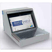 """Laptop Security Enclosure, for Laptops up to 15.25""""W x 10.5""""D x 1.75""""H, Gray"""