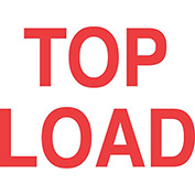"Top Load 3"" x 5"" - White / Red"