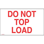 "Don't Top Load 3"" x 5"" - White / Red"