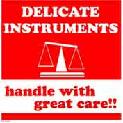 """Delicate Instruments 6"""" x 6"""" - White / Red"""