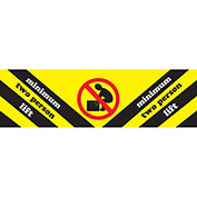 "Minimum Two Persons Lift 2"" x 8"" - Yellow / Black / Red / White"