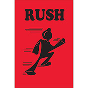 "Rush 3"" x 2"" - Fluorescent Red / Black"