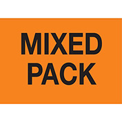 "2"" x 3"" Mixed Pack - Fluorescent Orange / Black"