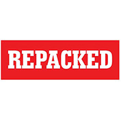 "Repacked 1-1/2"" x 4"" - Red / White"
