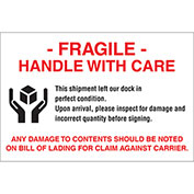 "Fragile This Shipment 4"" x 6"" - White / Red / Black"