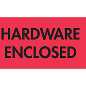 "Hardware Enclosed 2"" x 3"" - Fluorescent Red / Black"
