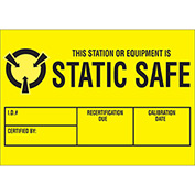 "Static Safe 1-3/4"" x 3"" - Yellow / Black"
