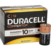 Duracell® Coppertop®  C Batteries W/ Duralock Power Preserve™ - Pkg Qty 12