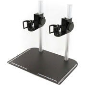 Dino-Lite MS37B-25 Tabletop Stand with Dual Scope, Vertical Mount
