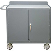 "Durham 2210A-LU-95 18-1/8""W x 35-11/16""D x 38-1/2""H Mobile Bench Cabinet"