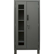 "Durham Heavy Duty Access Control Cabinet with Electronic Lock 3702CXC-BLP4S-95 - 24""W x 36""D x 78""H"