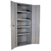 "Durham Heavy Duty Storage Cabinet 3953-4S-95 - 4-Shelf Bi-Folding Door 36""W x 24""D x 84'H"