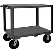 "Durham Mfg.® Heavy Duty Utility Cart HET-2436-2-95 - 4000 Lb. Cap. 2 Shelves 6"" Wheels"
