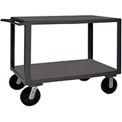 "Durham Mfg.® Heavy Duty Utility Cart HET-2448-2-95 - 4000 Lb. Cap. 2 Shelves 6"" Wheels"