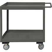 Durham Mfg.® Deep Shelf Stock Cart RSC3-1830-2-3.6K-95 -  3600 Lb. 2 Shelves Phenolic Wheels