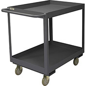 Durham Mfg.® Deep Shelf Stock Cart RSC3-2436-2-3.6K-95 -  3600 Lb. 2 Shelves Phenolic Wheels