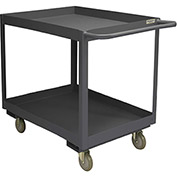 Durham Mfg.® Deep Shelf Stock Cart RSC3-2448-2-3.6K-95 -  3600 Lb. 2 Shelves Phenolic Wheels