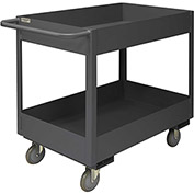 Durham Mfg.® Deep Shelf Stock Cart RSC6-2436-2-3.6K-95 -  3600 Lb. 2 Shelves Phenolic Wheels
