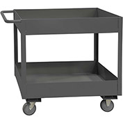 Durham Mfg.® Deep Shelf Stock Cart RSC6-2448-2-3.6K-95 -  3600 Lb. 2 Shelves Phenolic Wheels