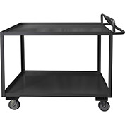 Durham Mfg.® Stock Cart RSCE-3048-2-3.6K-95 with Ergonomic Handle - 48 x 30 3600 Lb. Cap.